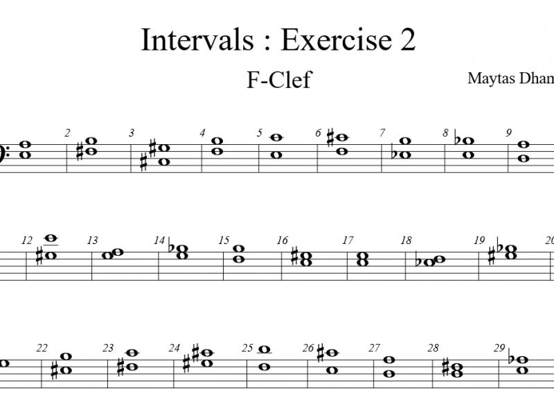 แบบฝึกหัด Intervals : EX2 กุญแจฟา (80 ข้อ)