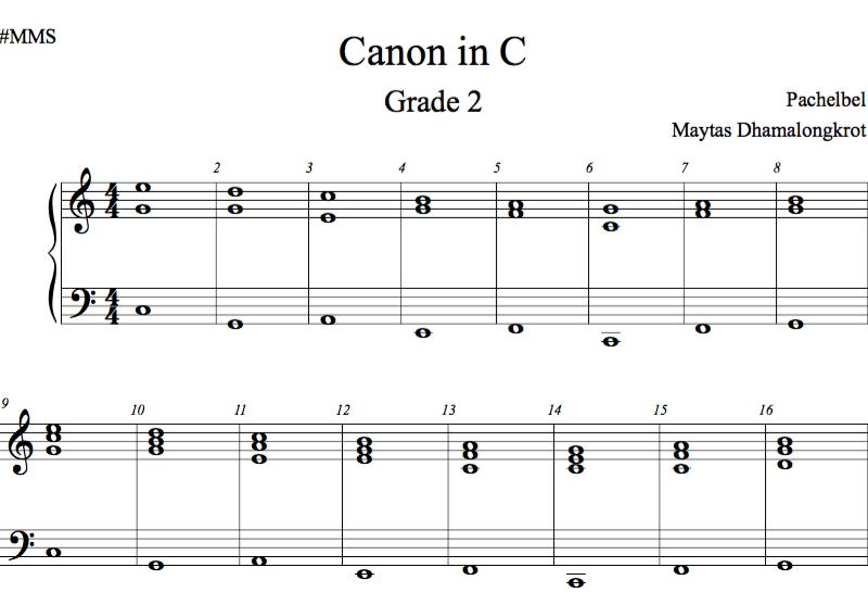 Canon in C Grade 2