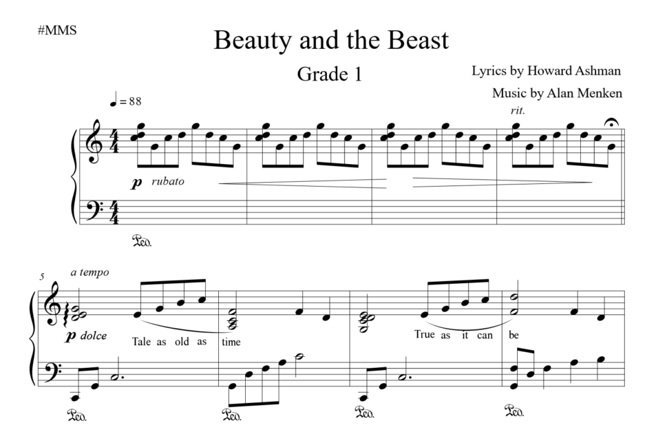 Beauty and the Beast grade 1