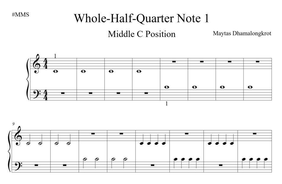 Middle C Position 1