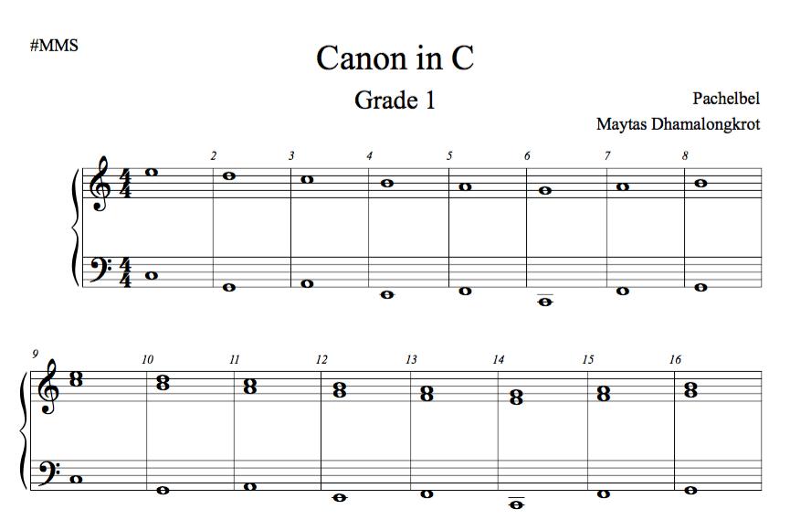 canon in c grade 1